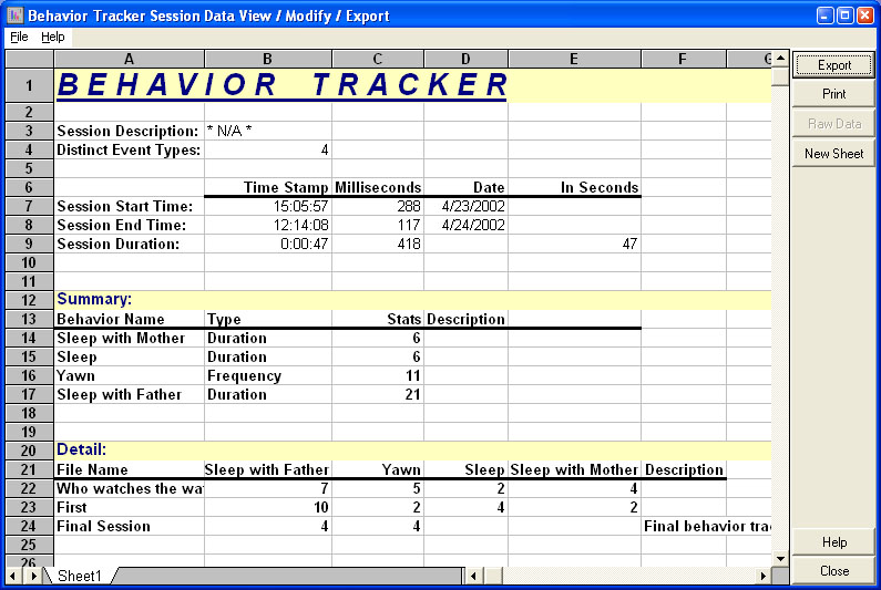 Behavior Tracker 1.4 Download - Behavior Tracker Reviews & Tutorials |